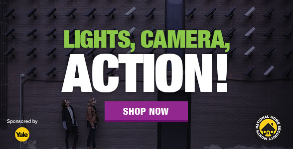 National Home Security Month - Week 3 - Lights, Camera, Action